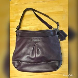 Coach Dark Purple Aubergine bag/purse
